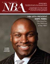 NBA 69TH PRESIDENT - National Bar Association