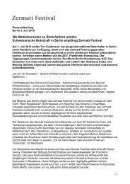 Pressemitteilung _3. Juli_2010 - Zermatt Festival