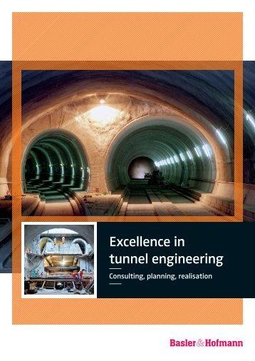 Excellence in tunnel engineering - Basler & Hofmann