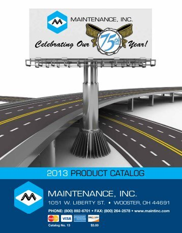Browse the catalog in pdf format - Maintenance, Inc.