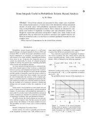 Some Integrals Useful in Probabilistic Seismic Hazard Analysis