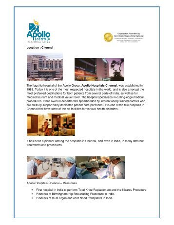 6_Apollo Chennai.pdf - Cardiac Surgery in India