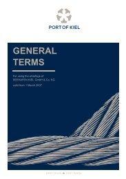 GENERAL TERMS - Port of Kiel