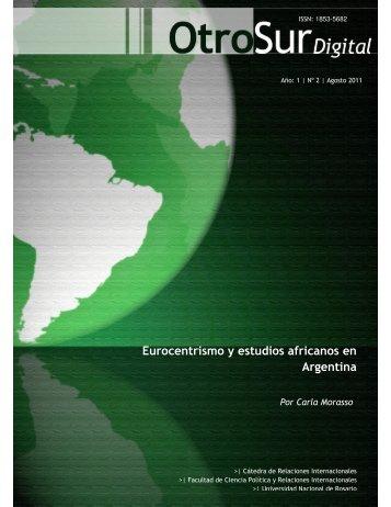 Eurocentrismo y estudios africanos en Argentina