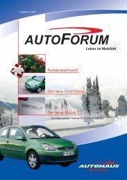 Kundenweihnacht Der neue Mazda 5 Der neue Ford Fiesta