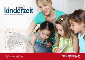 Preisliste Nr. 24 - bei Family Media family media