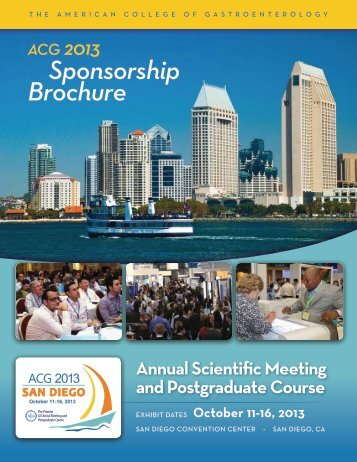 Sponsorship Brochure - ACG - American College of Gastroenterology