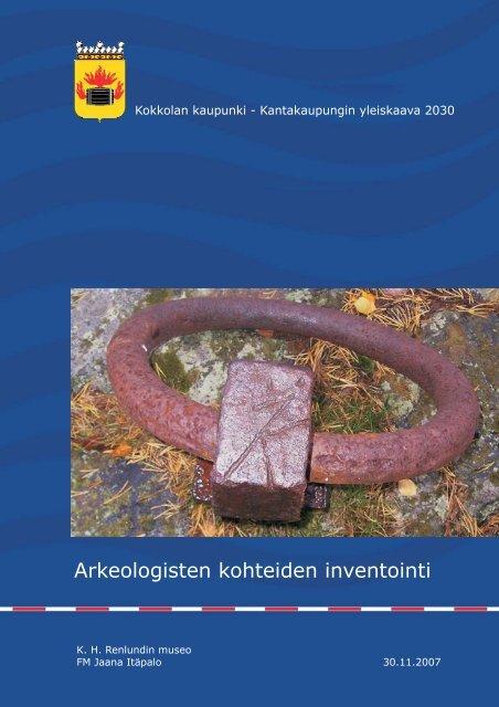 Arkeologisten kohteiden inventointi - Museovirasto