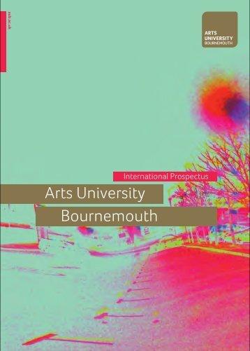 International Prospectus 2014-15.pdf - Arts University Bournemouth