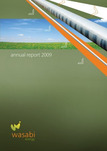 annual report 2009 - Wasabi Energy