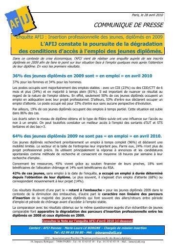 Insertion professionnelle des jeunes, diplômés en 2009 - CCI Rennes