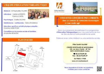 Plaquette ETP livret A5 - version1 - Centre hospitalier de Montauban