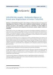 BioQuanta dépose un brevet pour diagnostiquer et traite - Genopole