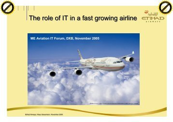 The role of IT in a fast growing airline - ITP.net