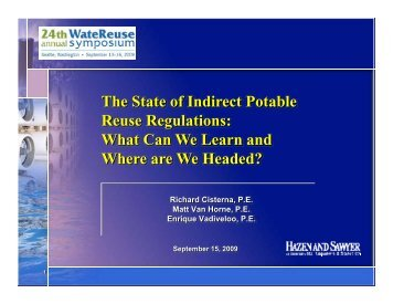 The State of Indirect Potable Reuse Regulations: What Can We ...