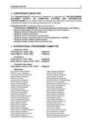 CONFERENCE OBJECTIVE INTERNATIONAL PROGRAMME ... - Ecet