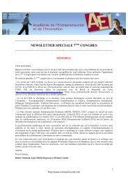 Newsletter du 7ème congrès octobre 2011 - Académie de l ...
