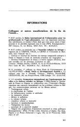 INFORMATIONS - Politique Africaine