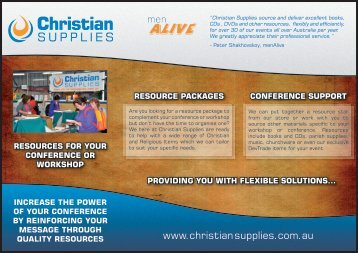 Resources Flyer - Christian Supplies