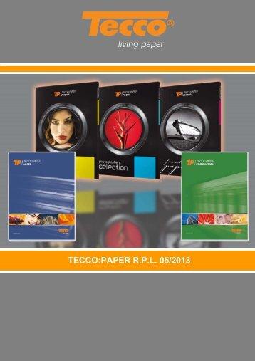 TECCO:PAPER R.P.L. 05/2013