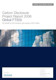 Carbon Disclosure Project Report 2006 Global FT500