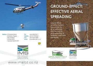Ground-effect: effective aerial spreadinG - IMS New Zealand Ltd