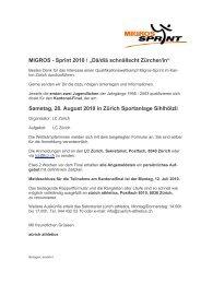 Migros Sprint Brief 2010 - zürich-athletics