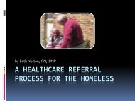 A Healthcare Referral Process for the Homeless - IUPUI