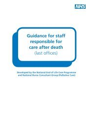 Guidance for staff responsible for care after death ... - Nursing Times
