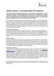 «Klinken putzen» – ein Erfolgsmodell wird ... - Stiftung Speranza