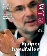 LUM nr 2 - 20 februari - Humanekologi Lunds universitet