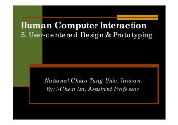 User-centered Design & Prototyping