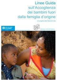 Linee Guida sull'Accoglienza dei bambini fuori dalla famiglia d ... - ISS