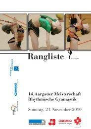 14. Aargauer Meisterschaft Rhythmische Gymnastik Sonntag, 21 ...