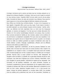 L'écologie microbienne Raymond Vilain