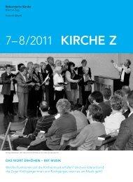 Kirche Z - Juli/August 2011 - Reformierte Kirche Zug