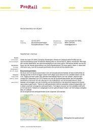 Lees de bewonersbrief van 23 mei 2013 - ProRail