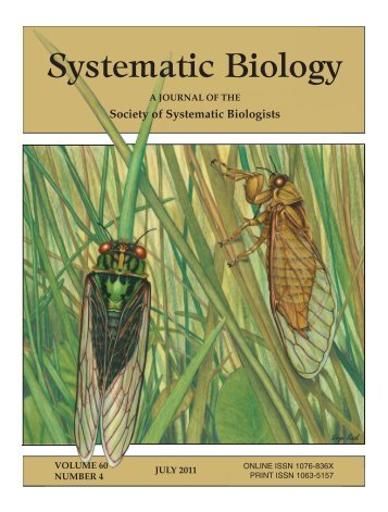 Society of Systematic Biologists Systematic Biology