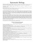 Society of Systematic Biologists Systematic Biology - Page 2