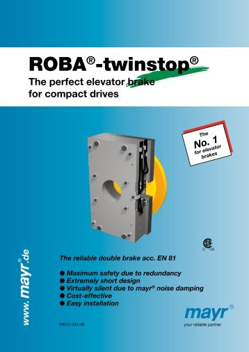 ROBA®-twinstop® - Mayr