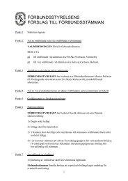 Förslag till förbundsstämma