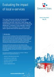 Evaluating the impact of local e-services - Smart Cities
