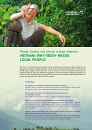 VieTnam: why redd+ needs local people - UNDPCC.org