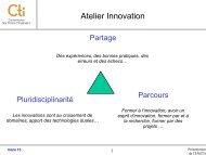 CR Atelier innovation et ingénierie de formation - Commission des ...