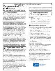 VIS HPV Gardasil - Spanish