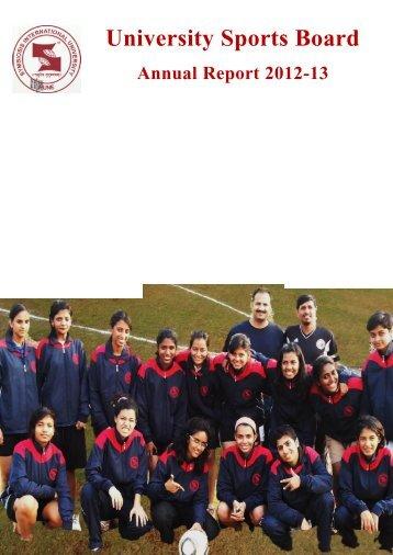 Annual Report 2012-13 - Symbiosis International University