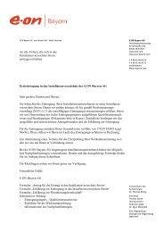 Unterlagen für die Ersteintragung (PDF, 181 KB) - E.ON Bayern