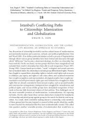 Istanbul Conflicting Paths to Citizenship: Islamization ... - enginfisin