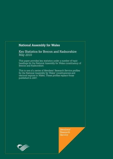 Key Statistics for Brecon and Radnorshire - National Assembly for ...