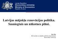 Latvijas mājokļu renovācijas politika. Sasniegtais un nākotnes plāni